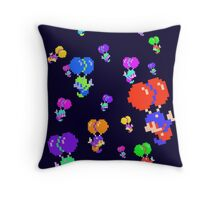 Balloons Man Pixel Throw Pillow