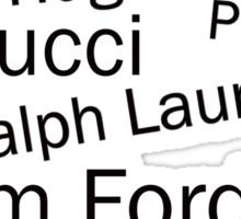SOLD - WORLD FAMOUS FASHION DESIGNERS  Sticker