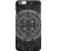 Aztec Calendar on Dark Grain iPhone Case/Skin