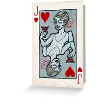 Lucy Westenra, Vampire Jack of Hearts Greeting Card