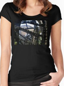 Noria Water Wheels, Hama, Syria Women's Fitted Scoop T-Shirt
