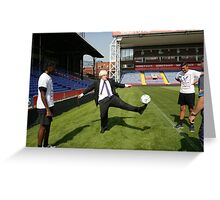 Boris Johnson visits Crystal Palace Football Club Foundation Greeting Card