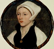 Hans Holbein the Younger - Portrait of a Young Woman with a White Coif by Adam Asar