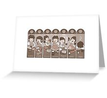 Seven Daily Meals Greeting Card