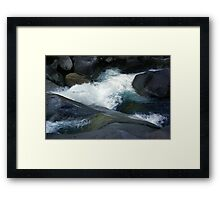 Flowing Waters, Josephine Falls, Tropical FNQ  Framed Print