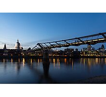 Reflecting on Bridges and Skylines - City of London, England, UK Photographic Print