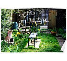 Garden workout Poster