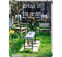 Garden workout iPad Case/Skin