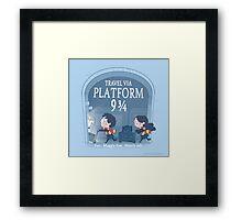 Travel via Platform 9 3/4 Framed Print
