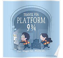 Travel via Platform 9 3/4 Poster