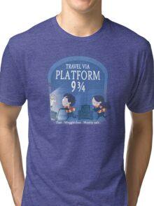 Travel via Platform 9 3/4 Tri-blend T-Shirt