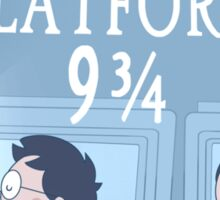 Travel via Platform 9 3/4 Sticker