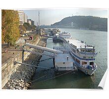 ships in danube Poster