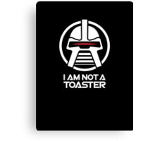 Cylon — I am not a toaster, Retro Canvas Print