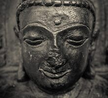 Ancient Buddha Statue by mrdoomits