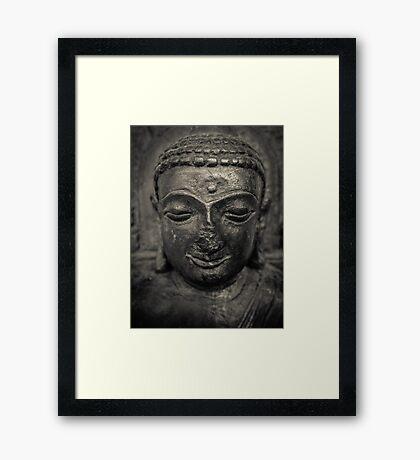 Ancient Buddha Statue Framed Print