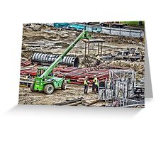 Construction Site Greeting Card