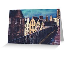 Old Town Edinburgh Buildings Greeting Card