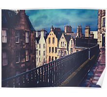 Old Town Edinburgh Buildings Poster