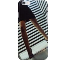 Sensual young lady in high heels night analog darkroom print iPhone Case/Skin
