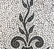 Ancient Plant Mosaic Tile Pattern by mrdoomits