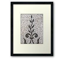Ancient Plant Mosaic Tile Pattern Framed Print
