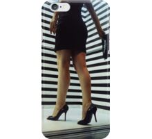 Sensual young woman in stilettos night analogue darkroom print iPhone Case/Skin
