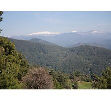 Distant Snow Topped Moutains from Cicekli Ula Photographic Print