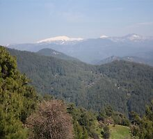 Distant Snow Topped Moutains from Cicekli Ula by taiche