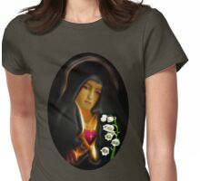 ✿♥‿♥✿ MY VERSION - TEARS OF THE VIRGIN MARY...TEE SHIRT✿♥‿♥✿ Womens Fitted T-Shirt