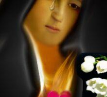 ✿♥‿♥✿ MY VERSION - TEARS OF THE VIRGIN MARY...TEE SHIRT✿♥‿♥✿ Sticker