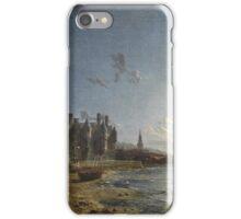 HENRY PETHER (1828-1865) Newark Castle, Port Glasgow c. 1858, England iPhone Case/Skin