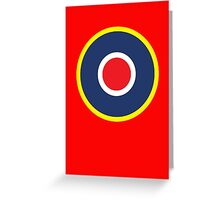 British WWII airforce logo Greeting Card