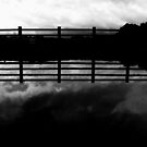 the cloud the fence (black&white) by georgeisme