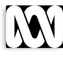 ABC Australia logo - white Canvas Print