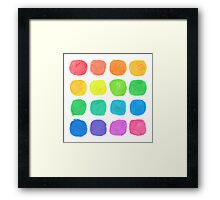 Watercolor Blobs Framed Print
