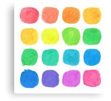Watercolor Blobs Canvas Print