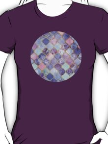 Royal Purple, Mauve & Indigo Decorative Moroccan Tile Pattern T-Shirt