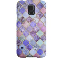Royal Purple, Mauve & Indigo Decorative Moroccan Tile Pattern Samsung Galaxy Case/Skin