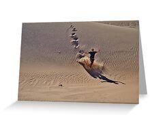 Dune plunge Greeting Card