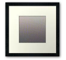 Colour Halftone Framed Print