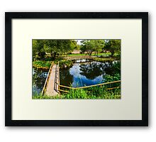 Picnic Area In The Marnel River Framed Print