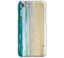 Kiteboarding in Cornwall 2 iPhone Case/Skin
