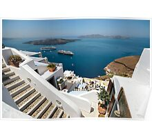 Views from Santorini Poster