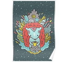 Abstract hedgehog Poster
