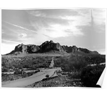 Arizona - Superstition Mountains Poster