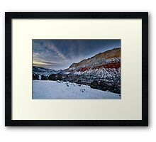 Cliffs of Flaming Gorge Framed Print