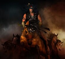 Horses of the Plains - Native American Horses by Shanina Conway