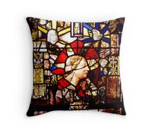 Restored stained glass made from bombed churches Throw Pillow