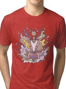 Abstract deer Tri-blend T-Shirt